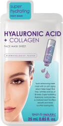 SKIN REPUBLIC Hyaluronic Acid + Collagen Gesichts-Tuchmaske 25ml